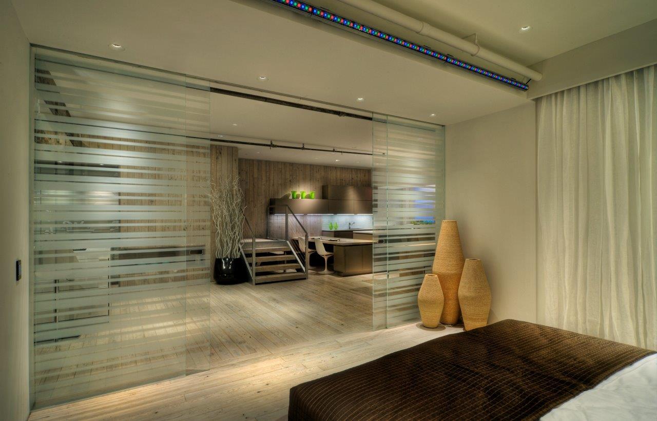 Separar Ambientes Con Puertas Correderas Good Puertas Corredizas  ~ Mamparas De Cristal Para Separar Ambientes